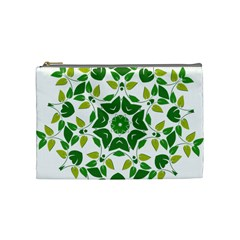 Leaf Green Frame Star Cosmetic Bag (medium)  by Alisyart