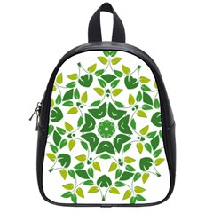 Leaf Green Frame Star School Bags (small)  by Alisyart