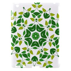 Leaf Green Frame Star Apple Ipad 3/4 Hardshell Case (compatible With Smart Cover) by Alisyart