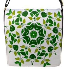 Leaf Green Frame Star Flap Messenger Bag (s) by Alisyart