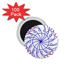 Line  Red Blue Circle 1 75  Magnets (100 Pack)  by Alisyart