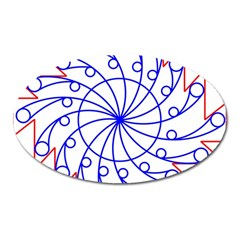 Line  Red Blue Circle Oval Magnet by Alisyart