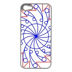 Line  Red Blue Circle Apple Iphone 5 Case (silver) by Alisyart