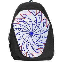 Line  Red Blue Circle Backpack Bag by Alisyart
