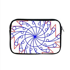 Line  Red Blue Circle Apple Macbook Pro 15  Zipper Case by Alisyart
