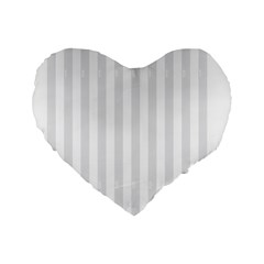 Main Field Football Sport Gray Standard 16  Premium Flano Heart Shape Cushions by Alisyart