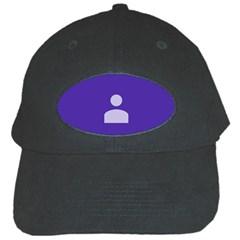Man Grey Purple Sign Black Cap by Alisyart