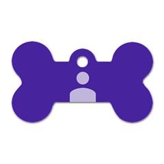 Man Grey Purple Sign Dog Tag Bone (one Side) by Alisyart