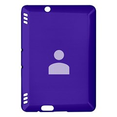 Man Grey Purple Sign Kindle Fire Hdx Hardshell Case by Alisyart