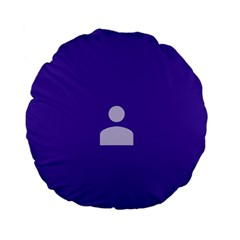 Man Grey Purple Sign Standard 15  Premium Flano Round Cushions by Alisyart