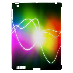 Lines Wavy Ight Color Rainbow Colorful Apple Ipad 3/4 Hardshell Case (compatible With Smart Cover) by Alisyart