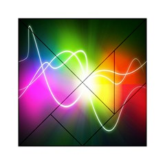 Lines Wavy Ight Color Rainbow Colorful Acrylic Tangram Puzzle (6  X 6 )