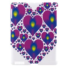Heart Love Valentine Purple Gold Apple Ipad 3/4 Hardshell Case (compatible With Smart Cover) by Alisyart