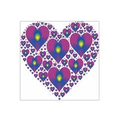 Heart Love Valentine Purple Gold Satin Bandana Scarf by Alisyart