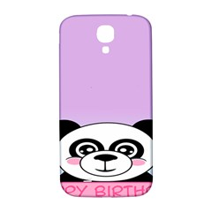 Panda Happy Birthday Pink Face Smile Animals Flower Purple Green Samsung Galaxy S4 I9500/i9505  Hardshell Back Case by Alisyart