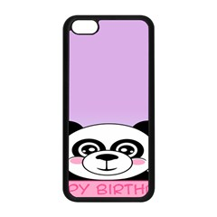 Panda Happy Birthday Pink Face Smile Animals Flower Purple Green Apple Iphone 5c Seamless Case (black) by Alisyart