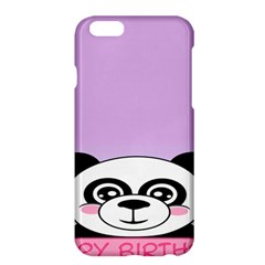 Panda Happy Birthday Pink Face Smile Animals Flower Purple Green Apple Iphone 6 Plus/6s Plus Hardshell Case