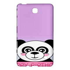 Panda Happy Birthday Pink Face Smile Animals Flower Purple Green Samsung Galaxy Tab 4 (8 ) Hardshell Case  by Alisyart