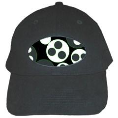 Origami Leaf Sea Dragon Circle Line Green Grey Black Black Cap by Alisyart