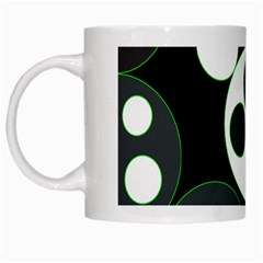 Origami Leaf Sea Dragon Circle Line Green Grey Black White Mugs by Alisyart