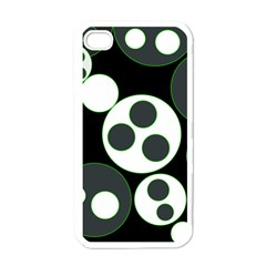Origami Leaf Sea Dragon Circle Line Green Grey Black Apple Iphone 4 Case (white) by Alisyart