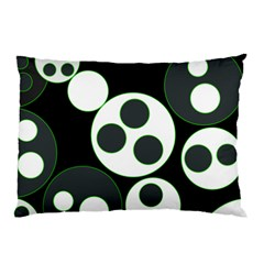 Origami Leaf Sea Dragon Circle Line Green Grey Black Pillow Case (two Sides) by Alisyart