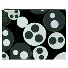 Origami Leaf Sea Dragon Circle Line Green Grey Black Cosmetic Bag (xxxl)  by Alisyart