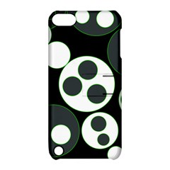Origami Leaf Sea Dragon Circle Line Green Grey Black Apple Ipod Touch 5 Hardshell Case With Stand by Alisyart
