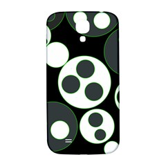 Origami Leaf Sea Dragon Circle Line Green Grey Black Samsung Galaxy S4 I9500/i9505  Hardshell Back Case
