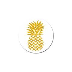 Pineapple Glitter Gold Yellow Fruit Golf Ball Marker (4 Pack) by Alisyart