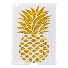Pineapple Glitter Gold Yellow Fruit Apple Ipad 3/4 Hardshell Case (compatible With Smart Cover) by Alisyart