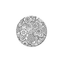These Flowers Need Colour! Golf Ball Marker by Simbadda