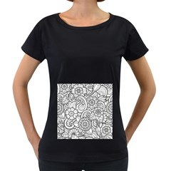 These Flowers Need Colour! Women s Loose Fit T Shirt (black) by Simbadda