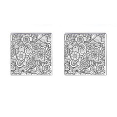 These Flowers Need Colour! Cufflinks (square) by Simbadda