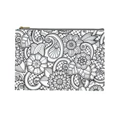 These Flowers Need Colour! Cosmetic Bag (large)  by Simbadda