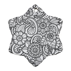 These Flowers Need Colour! Snowflake Ornament (two Sides) by Simbadda