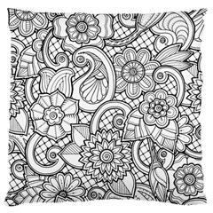 These Flowers Need Colour! Large Cushion Case (one Side) by Simbadda
