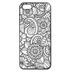 These Flowers Need Colour! Apple Iphone 5 Seamless Case (black) by Simbadda