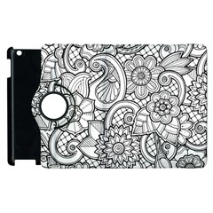 These Flowers Need Colour! Apple Ipad 2 Flip 360 Case by Simbadda