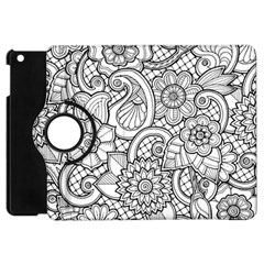 These Flowers Need Colour! Apple Ipad Mini Flip 360 Case by Simbadda
