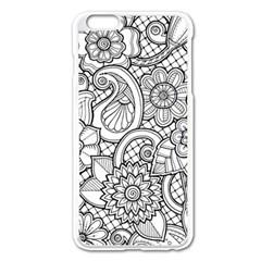 These Flowers Need Colour! Apple iPhone 6 Plus/6S Plus Enamel White Case