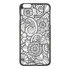These Flowers Need Colour! Apple Iphone 6 Plus/6s Plus Black Enamel Case by Simbadda