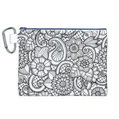 These Flowers Need Colour! Canvas Cosmetic Bag (xl) by Simbadda