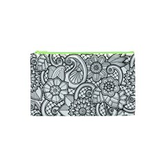These Flowers Need Colour! Cosmetic Bag (xs) by Simbadda