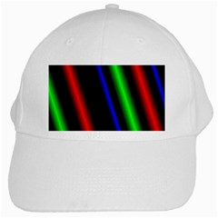 Multi Color Neon Background White Cap by Simbadda