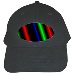Multi Color Neon Background Black Cap by Simbadda