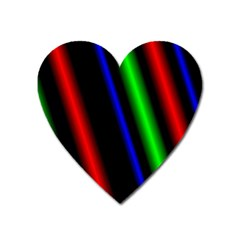 Multi Color Neon Background Heart Magnet by Simbadda