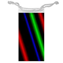 Multi Color Neon Background Jewelry Bag by Simbadda