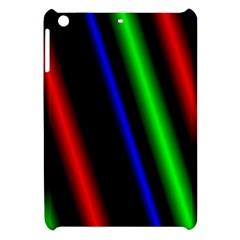Multi Color Neon Background Apple Ipad Mini Hardshell Case by Simbadda