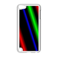 Multi Color Neon Background Apple Ipod Touch 5 Case (white) by Simbadda